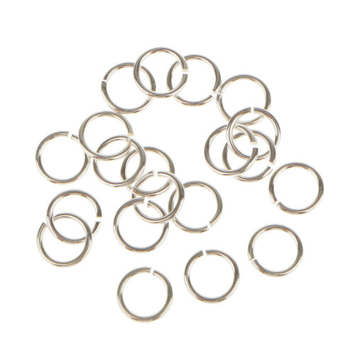 20pcs 925 Sterling Silver Open Jump Rings Connector DIY Jewelry Findings 5mm