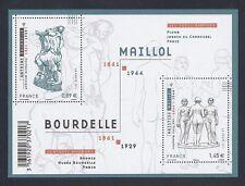 2011 Bloc n° F4626 Scultures de BOURDELLE et MAILLOL - NEUF**LUXE