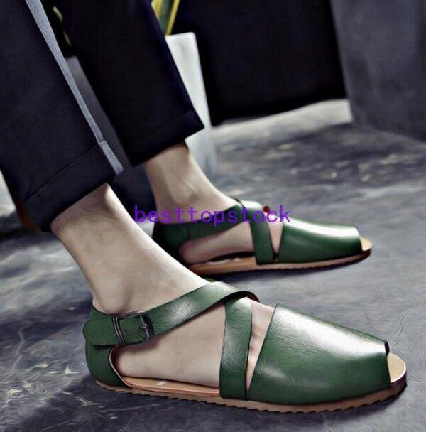 British Retro Fishmens shoes Mens Flip Flop Summer Beach Casual Sandals shoes ha