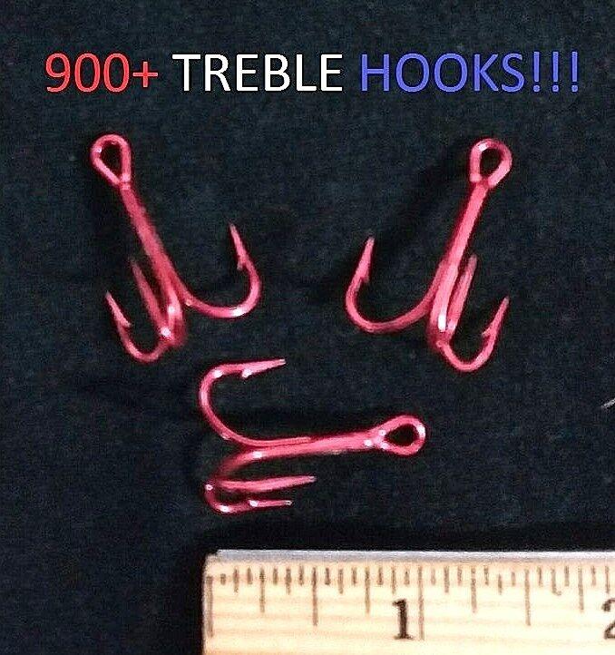 900+ Eagle Claw Sz.2 Reg.-Shank 2x Seaguard Red Treble Hooks(F976SRM-2) EB180406