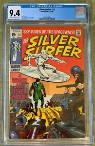 SILVER-SURFER-10-CGC-9-4-O-w-to-WHITE-PAGES-STAN-LEE-JOHN-BUSCEMA