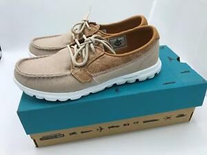 d1424bbfba38 Skechers On-the-GO Boat Shoes w GOGA Mat Breezy (1776) Natural Size ...