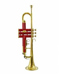 BRAND-NEW-RED-Golden-Brass-Bb-flat-Trumpet-With-Free-Case-MOUTHPIECE