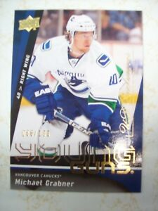 Michael-Grabner-Upper-Deck-Young-Guns-Exclusives-Rookie-Card-RC-086-100-Coyotes