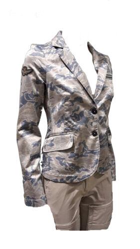 AERONAUTICA MILITARE DAMEN STRICK blazer AB1759D camouflage sweat sommer/'19