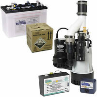 Basement Watchdog 1/2 Hp Combination Primary And Backup Sump Pumps W/battery ...