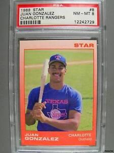 1988-Star-8-JUAN-GONZALEZ-PSA-NM-MT-8-Minor-Rangers