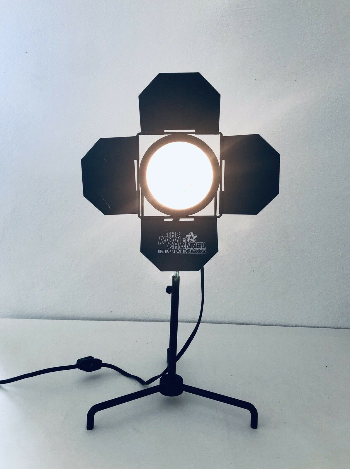 Rare, Vintage, Branded 'The Movie Channel' Old Hollywood Spot Light Desk Lamp 2