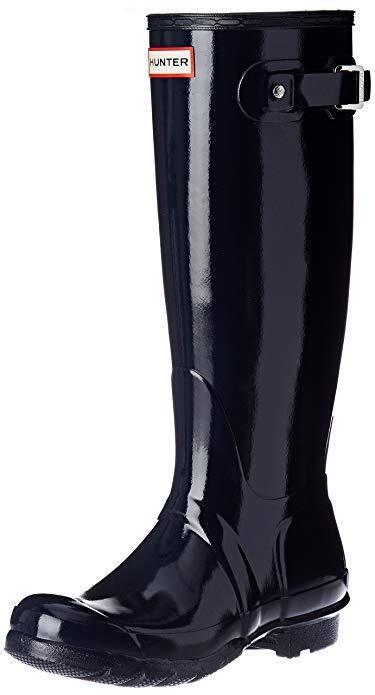 Hunter stivali Wouomo Original Tall Navy Gloss Rain avvio 9US  150