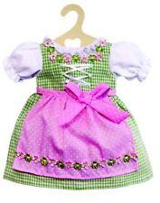 Heless Puppen Kleid Puppen Dirndl grün mit rosa Schürze für 28 - 35 cm Puppen