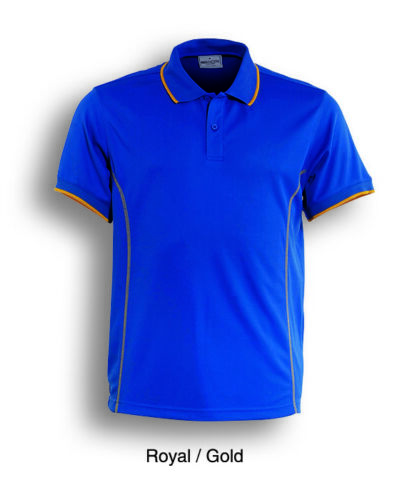 Bocini Kids Boys Girls  Short Sleeve Panel Polo with Cover Stitch Sun Protection