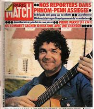 paris match n°1346 pierre perret phnom penh jean marais