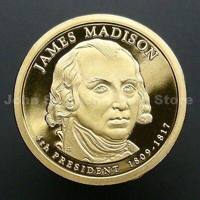 2007 S James Madison Presidential Dollar Deep Cameo Gem Proof