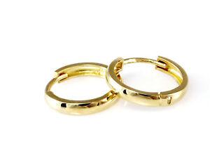 585 Gold Klappcreolen Grösse 13,8 mm x 2,4 mm 1 Paar