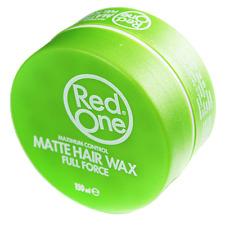 RED ONE MAXIMUM CONTROL GREEN MATT HAIR WAX FULL FORCE 5 OZ / 150 ML