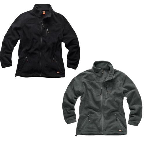 Men/'s Water Resistant Work Jacket All Sizes Grey Scruffs WORKER Fleece Black