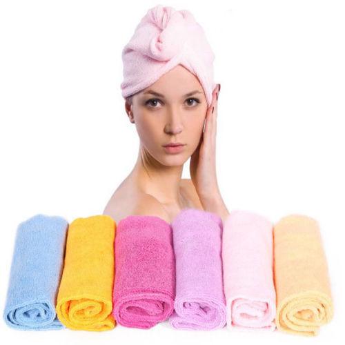 Absorbent Bath Towel Long Hair Dry Hat Cap Quick Drying Home Travel Bath Tool 1X