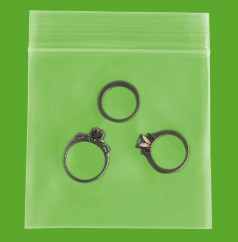 """Clear Reclosable Small Bags 2 Mil 3/"""" x 3/"""" Durable Zipper Polybag 4000 Count"""
