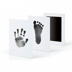 Baby Non Toxic Handprint Footprint Inkless  Souvenir Pad Kit Imprint For Infants