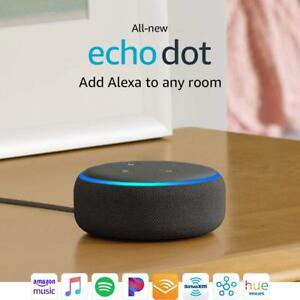 Amazon-Echo-Dot-3rd-Gen-Black-Smart-speaker-with-Alexa-Charcoal-Brand-New-Sealed
