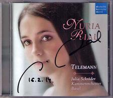Nuria RIAL Signed TELEMANN Aria Komm o Schlaf  Violin Concerto CD Julia SCHRÖDER