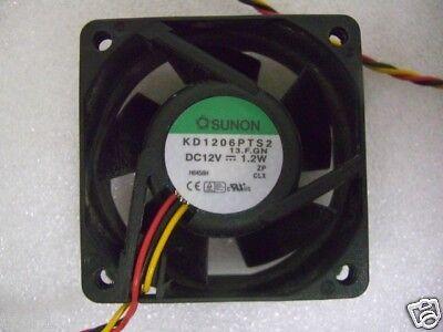 2pcs SUNON KD1206PFS2 DC12V 1W 2 wire 60x60x10mm Case Cooling Fan