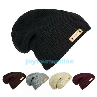 New Fashion Womens Knit Slouchy Beanie Oversized Thick Cap Hat Unisex Slouch New