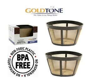 (2) Goldtone Brand Reusable Coffee Filter Fits Bunn Coffee Maker And Brewer.