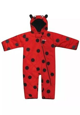 12-18 Bambino Bambina Onesuit Tuta Imperrmeabile Coccinella Lollipop Prezzo Di Strada
