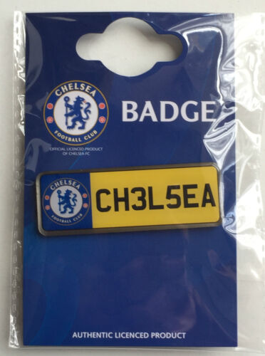 Large Chelsea F.C Football Club Number Plate Enamel Lapel Pin Badge Official