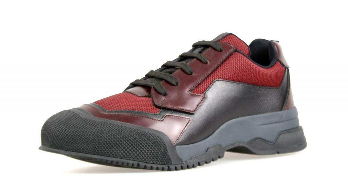 AUTHENTIC LUXURY PRADA SNEAKERS SHOES 4E2748 RED NEW 6,5 40,5 41