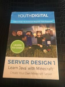 Details about Brand New SEALED software YouthDigital Server Design 1 learn  Java MINECRAFT
