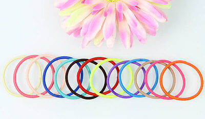 100 Pcs Women Girl Multicolor Elastic Hair Band Rope Scrunchie Ponytail Holder