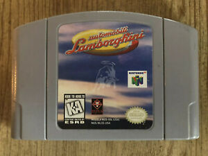 Automobili-Lamborghini-N64-Nintendo-64-Game-Only-AUTHENTIC