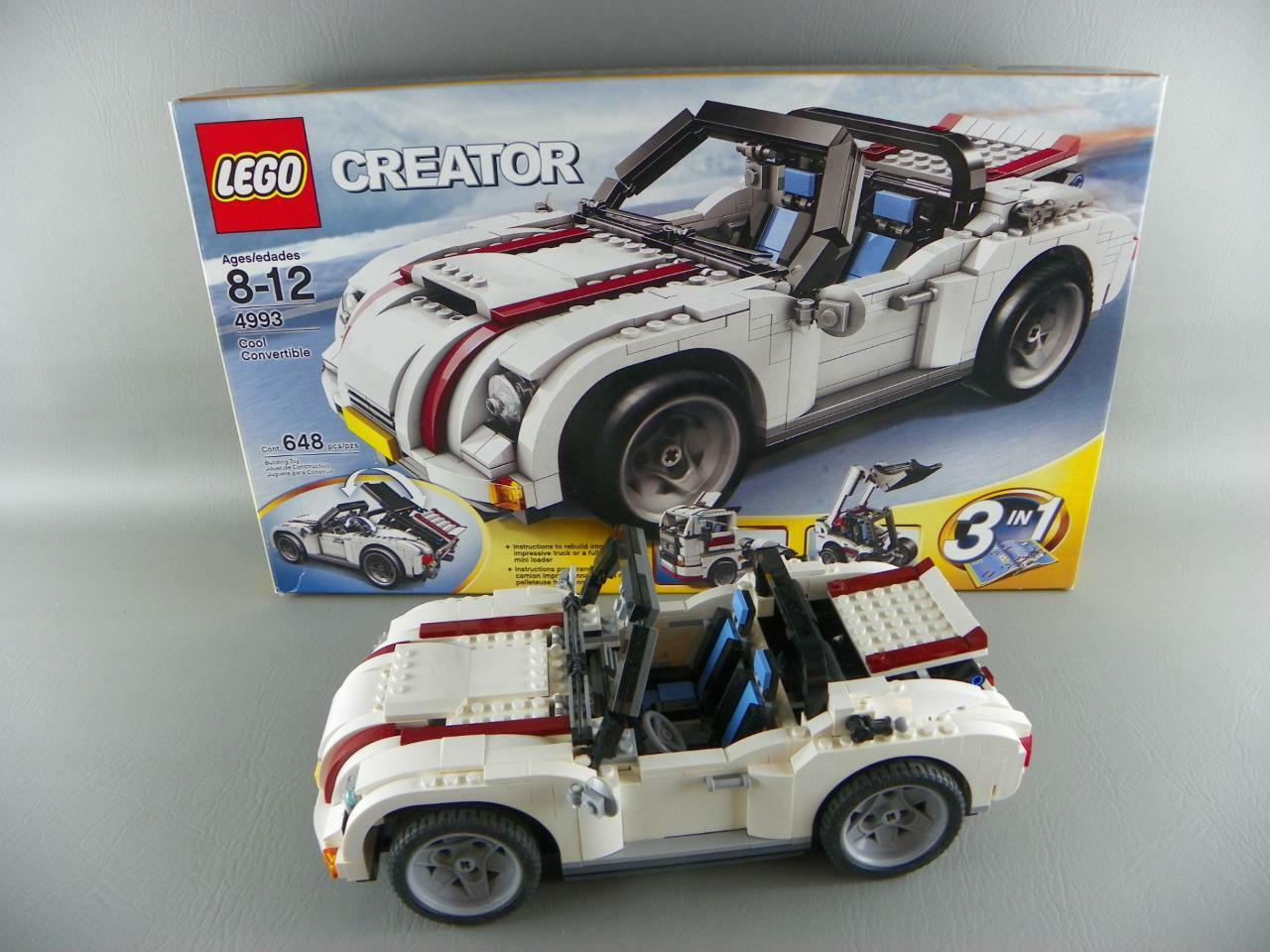 Lego 4993 Creator 3 in 1 COOL CONgreenIBLE White Car Complete w  Box Rare