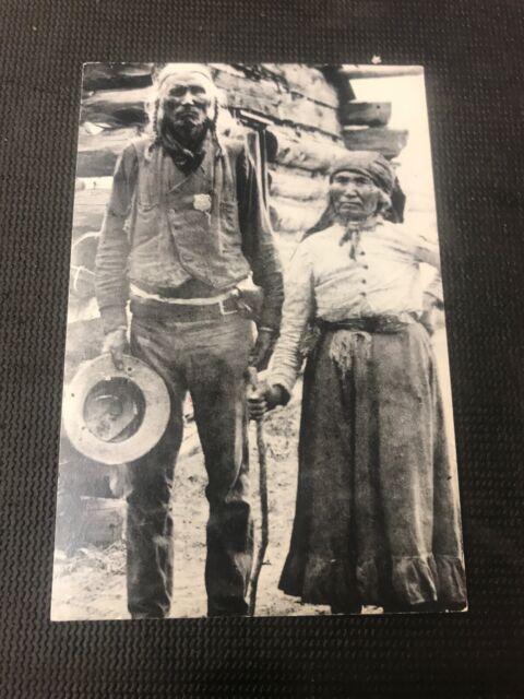 "postcard Vintage Sheriff ""long Alec"" Osoyoos B.C. U.S.  Pioneer Card Repro  I01"