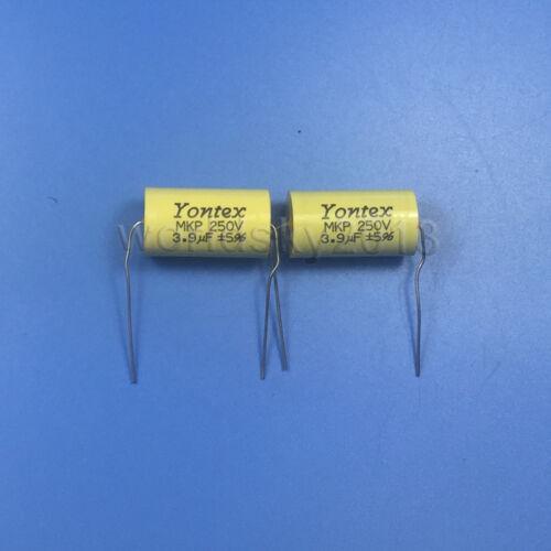 2pcs YONTEX 250V 3.9uF Audio Speaker Divider Crossover Non-Polarity Capacitor