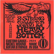 Ernie Ball EB2624 09-80 8-string Skinny Top Heavy Bottom Nickel Plated