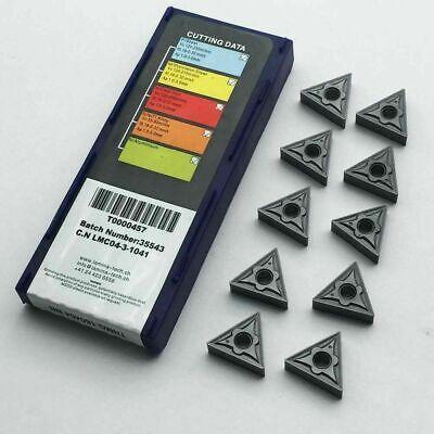 10pcs TNMG160404 LT10 CNC lathe insert cutting tool carbide turning blade