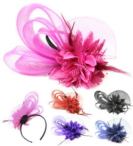 Boutique Mesh Bow Flower Fascinator Headband Ascot Races