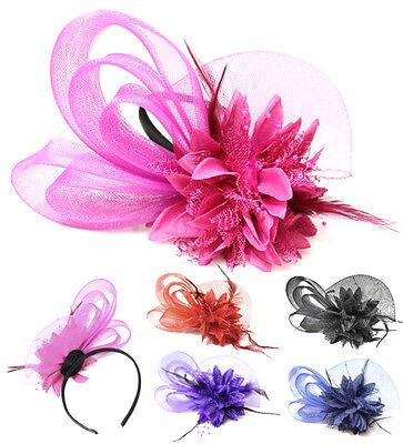 Boutique Mesh Bow Flower Fascinator Headband Ascot Races