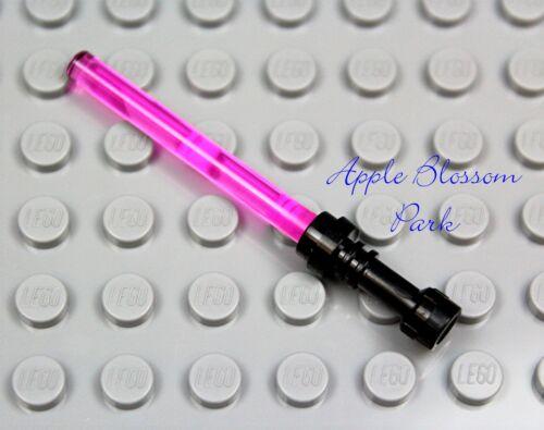NEW Lego Star Wars PINK LIGHT SABER Princess Leia Minifig Jedi Weapon Black Hilt