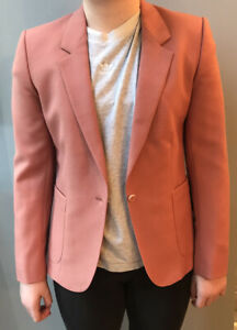 Women S Size 8 Salmon Pink 100 Pure Wool Tailored Jacket By Austin Reed Ebay