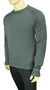 Details about NEW TOMMY HILFIGER CREW NECK VINTAGE FIT GREY QUILTED PULLOVER SWEATER S $99