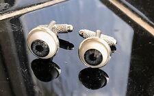 Horror Zombie Gemelos de ojos grises óptico Rockabilly globo ocular Scary Halloween
