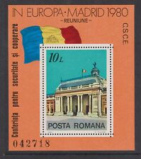UMM MNH STAMP SHEET ROMANIA EUROPEAN SECURITY CONFERENCE 1980 SG MS4597
