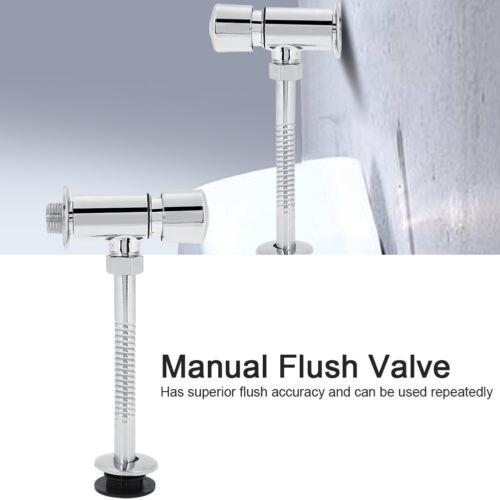 Manuelles Druckspüler Toilettenspülventil DN15//20MM Spülarmatur für Urinalbecken