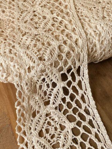 """laverslace Ecru Pale Beige Cream Vintage Cotton Cluny Crochet  Lace Trim 4/""""//10cm"""