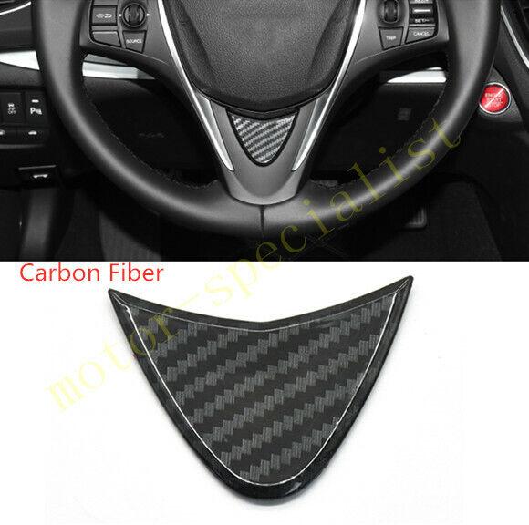 Real Carbon Fiber Steering Wheel Lip Trim Panel Cover For