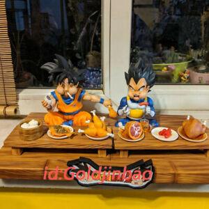 Um Estudio Dragon Ball Goku Vegeta Comendo Resina Pintada Modelo 2 0 Novo Em Estoque Ebay
